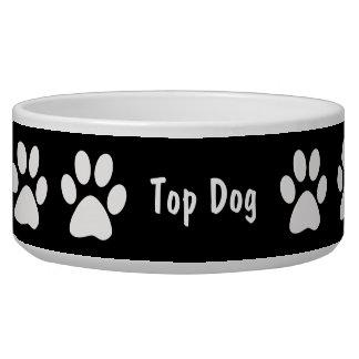 Paw Prints Large Dog Bowl