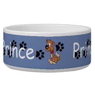 PAW PRINTS LARGE PET BOWL