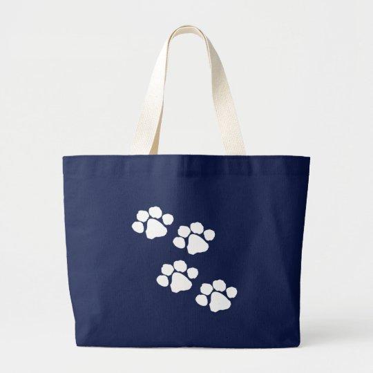 Paw Prints Large Tote Bag