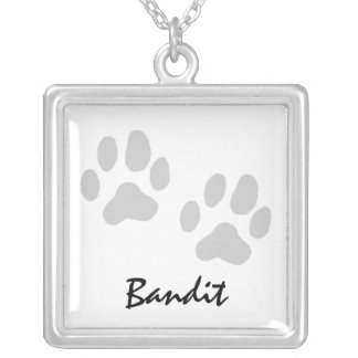 Paw Prints Necklace - Add Your Dog's Name