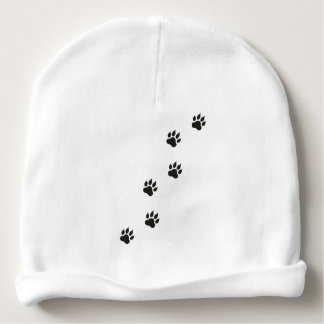 Paw prints of a cat baby beanie