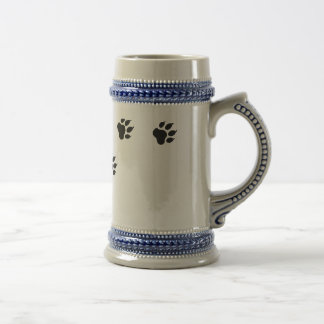 Paw prints of a cat beer stein