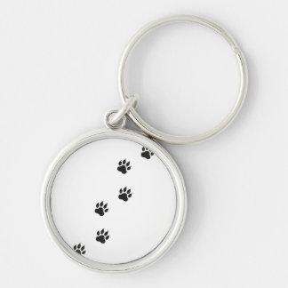 Paw prints of a cat keychain