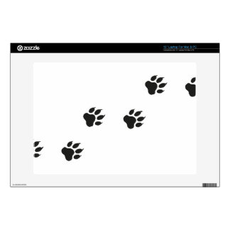 Paw prints of a cat laptop decals