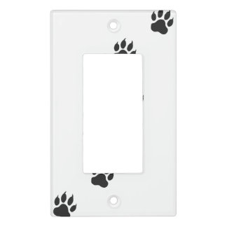 Paw prints of a cat light switch cover