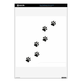 Paw prints of a cat PS3 slim skins