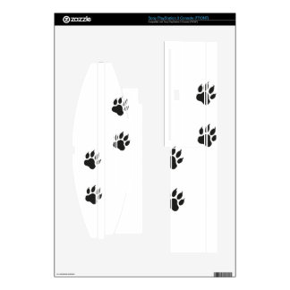 Paw prints of a cat skins for the PS3