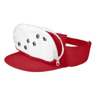 Paw prints of a cat visor