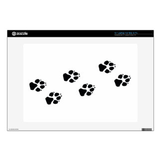 """Paw prints of a dog 13"""" laptop decal"""