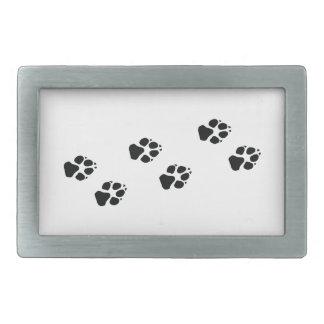 Paw prints of a dog belt buckle
