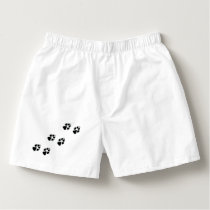 Paw prints of a dog boxers