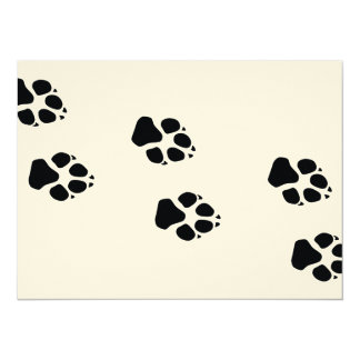 Paw prints of a dog card