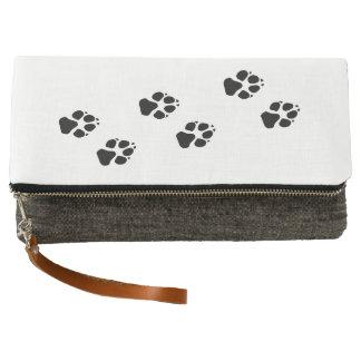 Paw prints of a dog clutch