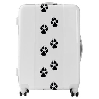 Paw prints of a dog luggage