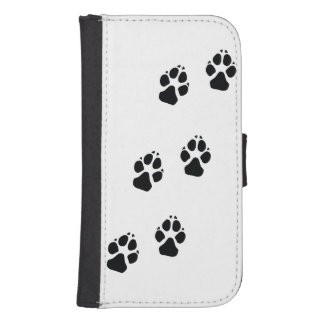Paw prints of a dog phone wallet
