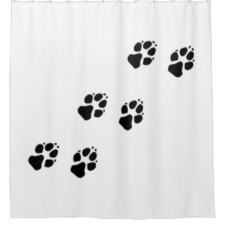 Paw prints of a dog shower curtain