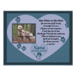 Paw Prints on My Heart - Blue Dog Memorial