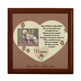 Paw Prints on My Heart - Dog Memorial Gift Box