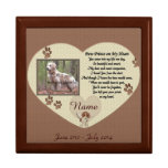 Paw Prints on My Heart - Dog Memorial Keepsake Box