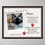Paw Prints on My Heart Pet Memorial - Dog Cat