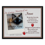 Paw Prints on My Heart Pet Memorial - Dog Cat Print