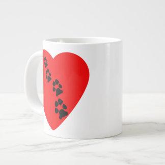 Paw Prints on My Heart Specialty Mug