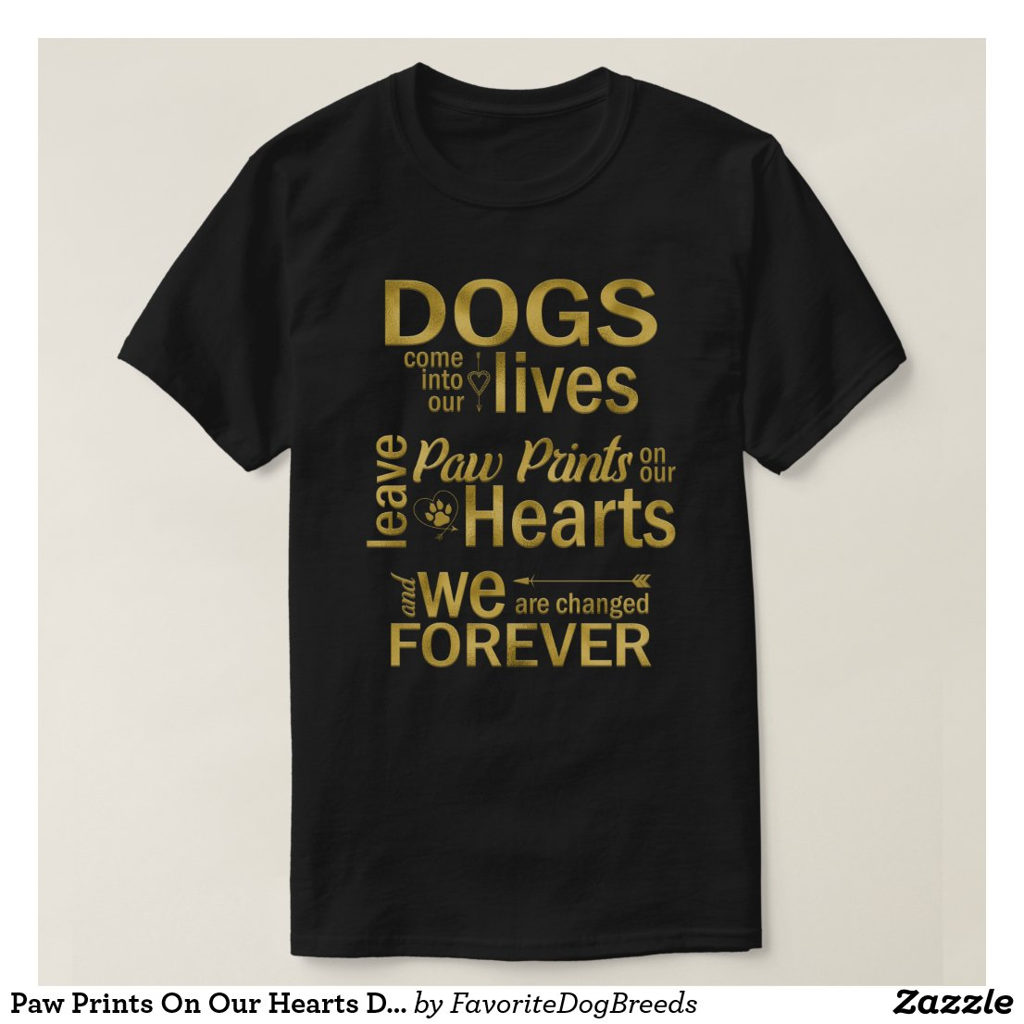 paw prints dog lover tshirt