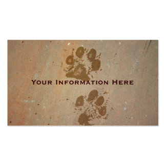 Paw Prints on Stone Business Cards