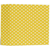 Paw Prints on Yellow Binder