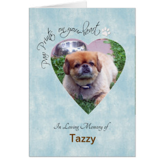 """Paw Prints on Your Heart"" Dog custom photo Card"