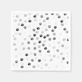 Paw Prints Paper Napkins for Dog Lovers
