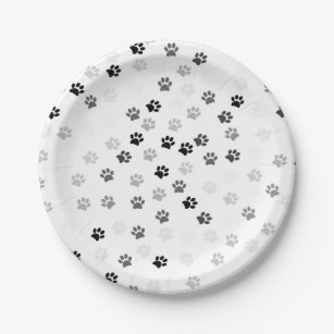 Paw Prints Paper Plates for Dog Lovers  sc 1 st  Zazzle & Dog Plates | Zazzle