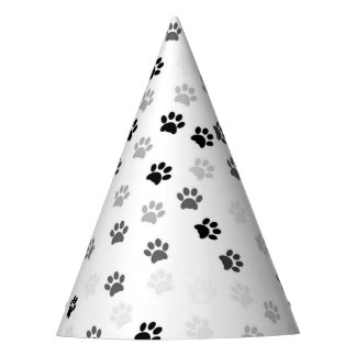 Paw Prints Party Hat for Dog Lovers