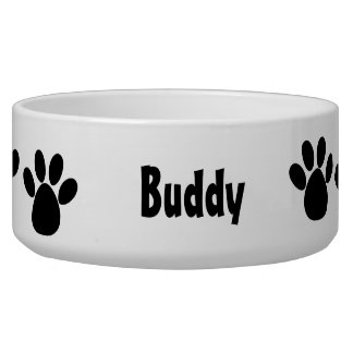 Paw Prints Pet Bowl