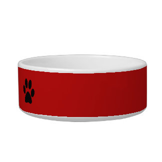Paw Prints ~ Pets Name Bowl