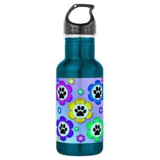 Paw Prints 18oz Water Bottle