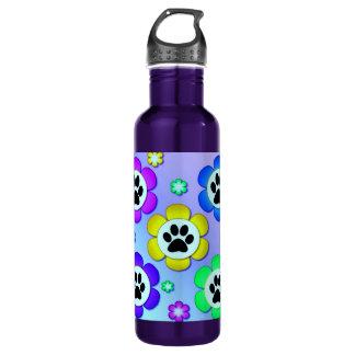 Paw Prints 24oz Water Bottle
