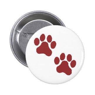 Paw Prints Pinback Button