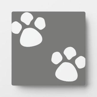 Paw Prints Plaque - Gray