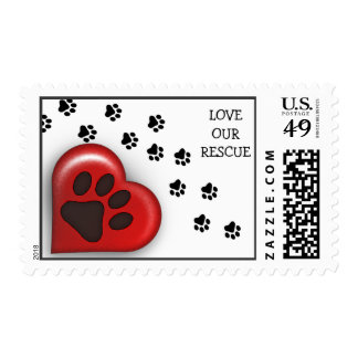Paw Prints Rescue Dog Owner Postage