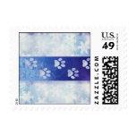 Paw Prints & Snowflakes Holiday Postage
