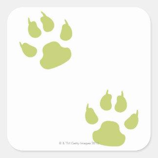 Paw Prints Square Sticker