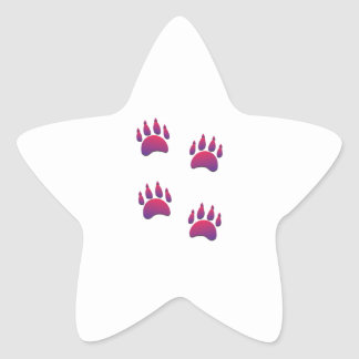 Paw Prints Star Sticker
