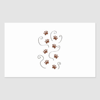 Paw Prints Rectangle Stickers