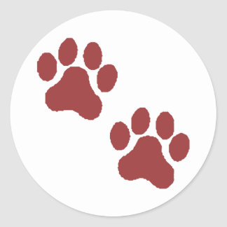 Paw Prints Stickers