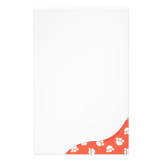 Paw Prints Surprise Tomato Custom Stationery
