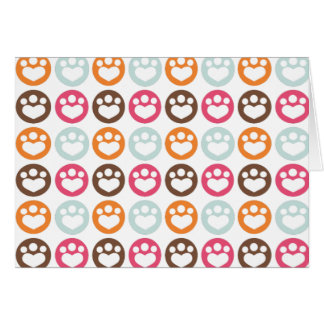 Paw Prints Sweet Confection Card