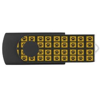 Paw Prints Swivel USB 2.0 Flash Drive
