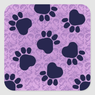 Paw Prints - Talk to the Paw! Purple Stickers