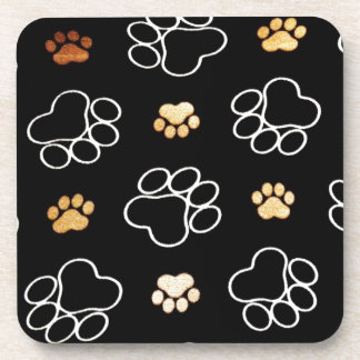 Paw Prints Templare Gifts Coaster